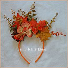 Use headbands as base for headpieces. Up Costumes, Halloween Costumes, Fairy Costumes, Costume Ideas, Holidays Halloween, Fall Halloween, Halloween Ideas, Enchanted Forest Party, Autumn Fairy