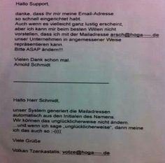 Email an den Support | Webfail - Fail Bilder und Fail Videos