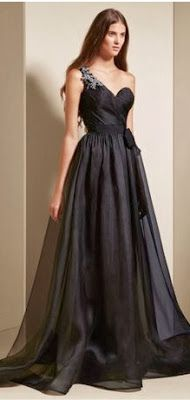 3ab4b49a39bd One shouldered dress for bridesmaids. Vera Wang Ebony Collection. Vera Wang,  Traditional Wedding