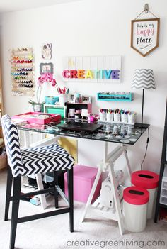 Craft Room / Home Office Tour & Makeover Reveal - Creative Green Living