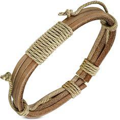 Bracelet homme Zense tendance et moderne en cuir véritable ajustable de couleur marron clair. Matière : cuir. Longueur : 20 cm à 28 cm (ajustable). Poids : 4.2 g. Référence : ZB0229.