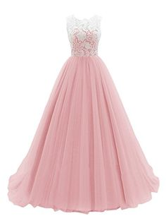 Dresstells® Women's Long Tulle Prom Dress Dance Gown with Lace Blush Size 2 Dresstells http://www.amazon.com/dp/B00R7K8WNS/ref=cm_sw_r_pi_dp_g8.lvb1RZY33Y
