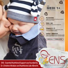 ENS - Essential Nutritional Support was founded by Dr. Christine Mirakian and Nutritionist Julie Albrecht and is supported by a team of dedicated people that have been caring for the health and wellbeing of families for over 25 years.  Contact our customer service for more information on 1300 ENS ENS - 1300 367 367. #infantFormula #Milk #ENS #ENSMedi #Baby #babycare #babymilk #babyformula #milkformula