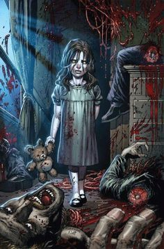 This is our little collection of zombie art. We've selected these beautiful, stunning and disturbing paintings for your enjoyment. This is zombie art! Zombie Kunst, Arte Zombie, Zombie Art, Arte Horror, Horror Art, Horror Movies, Horror Room, Horror Cartoon, The Crow