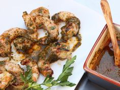 Our perfectly grilled shrimp have a clean, sweet shrimp flavor with a nicely charred crust and a plump, juicy texture. They pair wonderfully with chermoula, a North African condiment based on herbs, cumin, olive oil, and lemon.