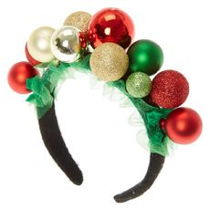 Serre-tête Noël fantaisie what to get for christmas fun Tacky Christmas, Christmas Costumes, Christmas Holidays, Christmas Sweaters, Christmas Hair, Green Christmas, Xmas, Christmas Headpiece, Christmas Headbands