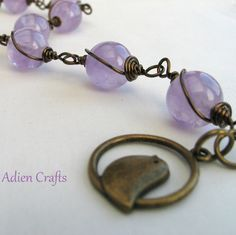 Amethyst Bracelet Wire Wrapped £13.95
