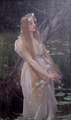Jules Joseph Lefebvre Paintings-Ophelia