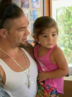 Leland Chapman with his third child, daughter Leiah Breanna Chapman