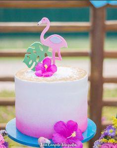 Flamingo Cake, Flamingo Birthday, Luau Birthday, Flamingo Party, Birthday Cake Girls, Birthday Parties, Bolos Pool Party, Pool Party Cakes, Tiki Party