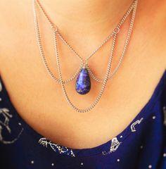 Colar de Lapis Lazuli Ela