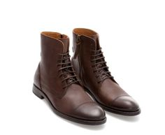 LEATHER CAP - TOE BOOT - Shoes - Man | ZARA Philippines