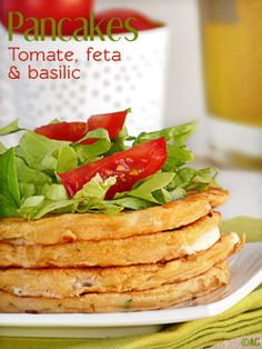 pancakes with tomato and basil feta  COOKED IT: Definitly a keeper! Tasted very unique, savory but with a fluffy pancake flavor. I did have to add more milk because my batter was a dough