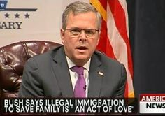 Jeb Bush tells 'Fox News Sunday' illegal immigration 'not a felony, it's an act of love'