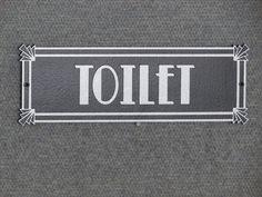 "Bathroom Signs Silver vintage ""auditorium"" office sign -- mint condition. $40.00, via"