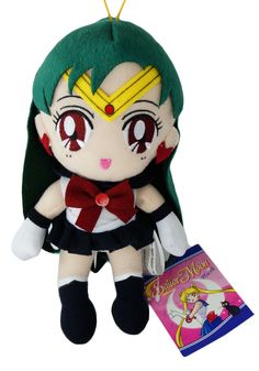 Sailor Pluto, the Sailor Soldier who guards the gates of time is now a cute plush toy.