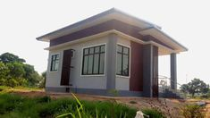 Modern One Story House with 2 bedrooms, 2 bathrooms suitable for small family to medium size house designed in Modern House style resort. The emphasis is on the modern style and the layout of the home [. Story House, My House, Small Modern House Plans, Modern Bungalow House, Modern Style Homes, Simple House Design, 2 Bedroom House, One Story Homes, My Dream Home
