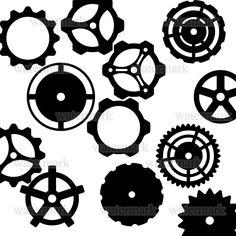 Steampunk Clip Art   Steampunk Gears Template Dump by DanielleDucrest