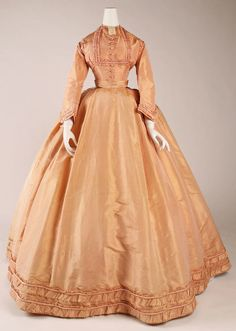 Dress - option 1 (day)  Date: ca. 1864  Culture: French  Medium: silk