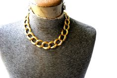 Classy vintage 80s gold tone metal collar-choker by VezaVe on Etsy