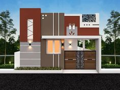 Front Elevation Designs, House Elevation, Beautiful Small Homes, Double Door Design, House Front Design, Architecture Plan, Small Houses, Double Doors, Tiny Homes