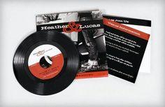 vinyl record style wedding invitations