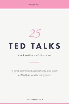 Creative Drawing Often as business owners wearing multiple hats, we get exhausted and burnt out! To keep you going, here are 25 ted talks to pep up and inspire creative business owners! - 25 Must Watch TED Talks for Creative Entrepreneurs - PinkPot Studio Marketing Website, Marketing Online, Business Marketing, Business Entrepreneur, Content Marketing, Media Marketing, Marketing Strategies, Marketing Ideas, Affiliate Marketing