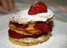 Mil-folhas de pastel de nata e frutos vermelhos ~ Cozinha Divinal