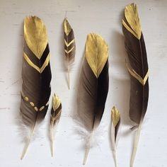 painted feathers - could do this instead of dipping them for our centerpieces