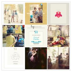 Gerry & Natasha Prewedding Photobook Design, Retro vintage theme, photo by HOP, edit & design by Owner of HOP & Wenny Lee