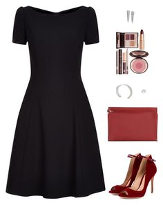 """""""Sin título #4210"""" by mdmsb on Polyvore featuring moda, Dolce&Gabbana, Gianvito Rossi, Loewe, Journee Collection y Charlotte Tilbury"""