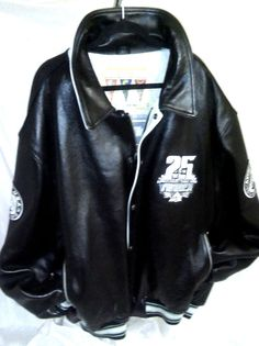VINTAGE AVIREX Black LEATHER 25th Anniversary Bomber JACKET sz 6XL #Avirex #FlightBomber