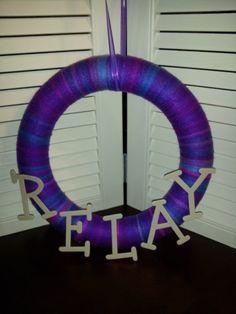 Relay wreath.  Omg love it!