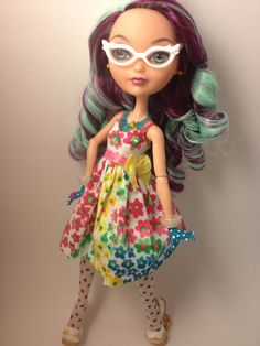 Adorably Floral  Ever After High Doll Dress OOAK by MoreMeKnow, $12.00