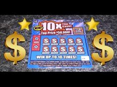 $50,000 10x The Cash NC Lottery Scratch Ticket