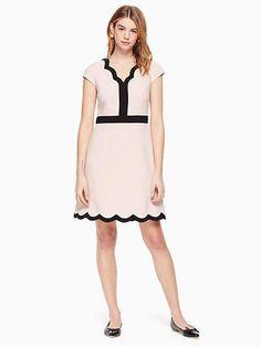 8208dd6a6a6 scallop short sleeve dress by kate spade