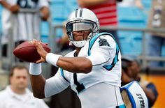 from Carolina Panthers  The first photo of QB Cam Newton in a uniform with our updated logo.