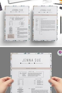Love this floral and creative resume If you like this design. Check others on my CV template board :) Thanks for sharing! Graphic Design Resume, Resume Design Template, Cv Template, Resume Templates, Resume Tips, Resume Examples, Cv Web, Portfolio Web, Cv Original