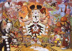 Todd Schorr's pop surrealism...Disney on acid.
