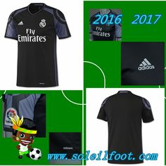 Vente Nouveau Maillot De Foot Real Madrid Noir Third Saison 16 17 Pas Chére