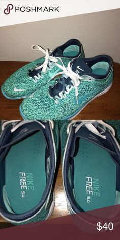 Nike Free 5.0 Super Lightweight!! Super cute color and pattern! Excellent Condition.. Worn once Nike Shoes Athletic Shoes