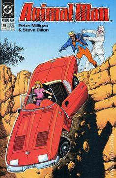Animal Man (1988) 29 DC Comics Book cover art super heroes villians