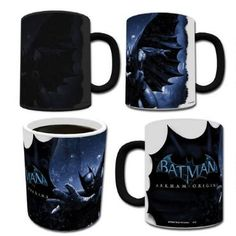 This+Batman+Arkham+Origins+heat+transforming+mug+reveals+Batman+in+a+snow+storm+when+the+mug+is+filled+with+hot+liquid.+This+11+Oz+mug+is+not+microwave+or+dishwasher+safe,+hand+wash+only.++Watch+the+video+to+see+the+amazing+transformation!