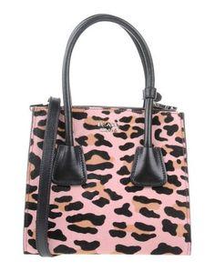 PRADA . #prada #bags #shoulder bags #hand bags #fur #suede #