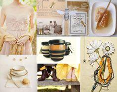 Honey Bee Brunch Color Palette: Honey, Birch, Vanilla, Cream