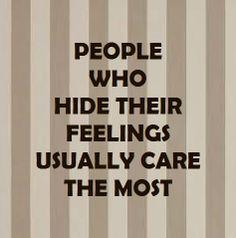 Hide feelings...