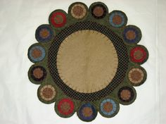 wool felt applique penny rug