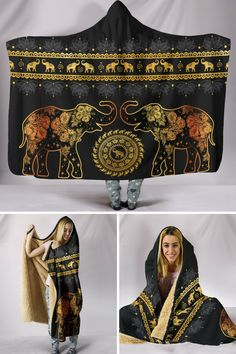 Snuggle up in style with our new hooded blankets for elephant lovers!
