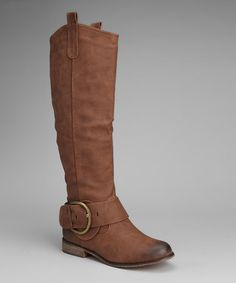 Brown Madden Boot by Chocolate Hues: Apparel & Accessories on #zulily today! $21.99