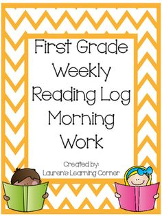 This set of reading logs contains a reading log and a reading response for each month, months September through June, and are designed for first grade.  The logs and response forms are perfect to use as a weekly morning work center, but can also be used as a choice or menu activity for students who finish other assigned work early, as a part of guided reading group work or as a part of your literacy centers.